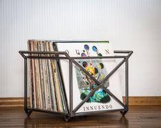 "12"" Vinyl LP record storage metal crate #container, #metal, #organize, #vinyl"