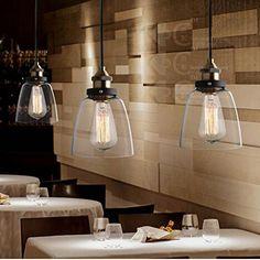 Verre Vintage industrielle Retro cordon de montage Ceiling Pendant Lampe Edison: Amazon.fr: Luminaires et Eclairage