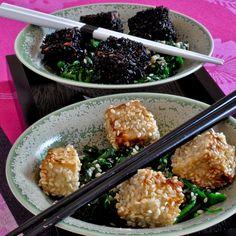 Découvrez la recette Bouchées de tofu au sésame sur cuisineactuelle.fr.