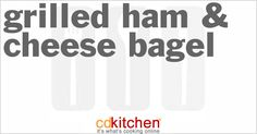 Made with bagels, American cheese, shaved ham   CDKitchen.com