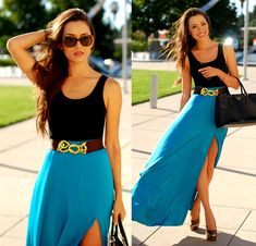 That Famous Look Teal Maxi, Simply Eyeglasses Prada Havana Sunnies, Tide Pool Love Golden Wish Pyrite Necklace