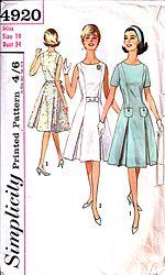 1960s vintage dressmaking pattern