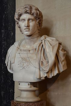 File:Roman bust of Alexander the Great, excavated from the ruins of Herculaneum, Blenheim Palace Oxfordshire, UK Greek History, European History, Ancient History, American History, Art History, Native American, Ancient Rome, Ancient Greece, Ancient Aliens