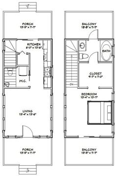 Interesting plans for tiny houses 14 x 28