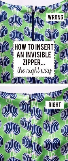 How to insert an Invisible Zipper -the right way...