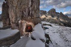 """Remnants of World War I, these """"iron roads"""" take climbers to remote reaches of the Italian Alps—and tell stories of battle and bravery."""