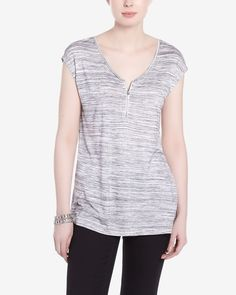 This Short Sleeve T-Shirt is made of light rayon and polyester. It has a scoop neckline, a zipper closure and a flattering shape. Pair this top with ankle pants or jeans. Ankle Pants, Neckline, Closure, Zipper, Shape, Jeans, Sleeve, T Shirt, Shopping