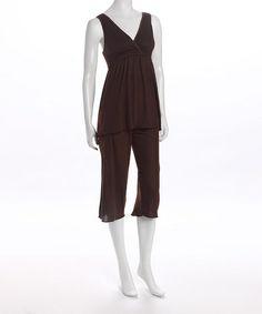 Look what I found on #zulily! Chocolate Serenity Nursing Pajamas - Women & Plus by Amamante Nursingwear #zulilyfinds