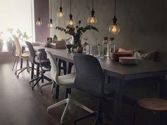 LÅNGFJÄLL bureaustoel   IKEA IKEAnl IKEAnederland stoel werkplek studeerkamer werken studeren bureau werk grijs wit ergonomisch kantoor eettafel lampen led-verlichting NITTIO led-lamp VÄSTANBY tafel interieur inspiratie