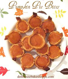 Dollhouse Bake Shoppe: Pumpkin Pie Bites