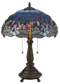 "Meyda Tiffany 119650 22"" H Tiffany Hanginghead Dragonfly Table Lamp Flame Beige Lamps Table Lamps"