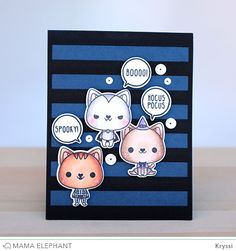 mama elephant | design blog: INTRODUCING: Meowlloween, Classic Stripe Cover CC