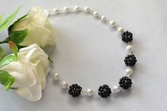 Hey, do you have any good idea in making creative beading necklace? Today I will show a bead ball necklace with you all which conclude white and black pearl beads. If you like pearl beads necklace,...