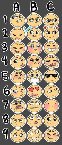 Expression Challenge, Drawing Challenge, Art Challenge, Drawing Face Expressions, Cartoon Faces Expressions, Expression Sheet, Drawing Prompt, Drawing Ideas, Poses References