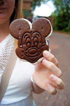 Mickey Mouse Ice Cream Sandwich -- Yum!
