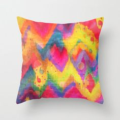 BOLD QUOTATION in Neons 2 - 18 x 18  Decorative Pillow Cover, Polyester Throw Cushion Decor Stunning Rainbow Abstract Watercolor Painting on Etsy, $32.77 AUD