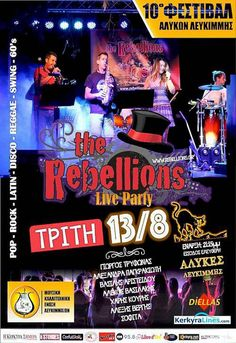 The Rebellions Live Party ! Reggae, Comic Books, Live, Party, Movie Posters, Film Poster, Parties, Comics, Comic Book
