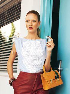 Burda Style 05/2012 Drawstring top and shorts