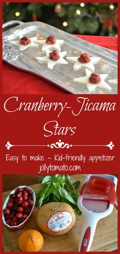 Cranberry Jicama Star Appetizers - Easy and Tasty - Jolly Tomato Healthy Appetizers, Appetizer Recipes, What Is Jicama, Kid Friendly Appetizers, Most Delicious Recipe, Tasty, Yummy Food, Real Food Recipes, Healthy Recipes