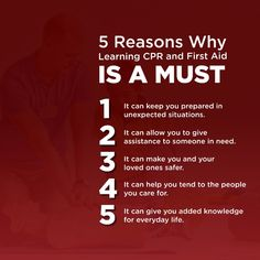 5 Reasons Why Learning CPR and First Aid Is a Must  #ThisGenerationCares #FirstAid First Aid, Learning, Study, Teaching, Studying, Education