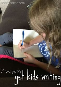 Have a child who struggles with writing? Here are 7 ways to get kids writing AND 50+ cool and creative writing prompts that will get even the most reluctant writer thinking critically and creatively!  #ad #teachmama #kids #writing #kidsactivities #literacy #writingtips #parenting #teaching