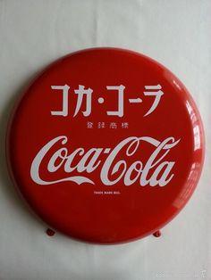 Coca Cola placa chapa de Japón Coca Cola Japan button sign - Foto 1