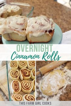 Homemade overnight cinnamon rolls with frosting are the perfect make ahead breakfast sweet for Christmas morning, holidays or every day! Overnight Cinnamon Rolls, Cinnamon Roll Bread, Cinnabon, Make Ahead Breakfast, Breakfast Bake, Breakfast Ideas, Breakfast Recipes, Crepes, Streusel Muffins