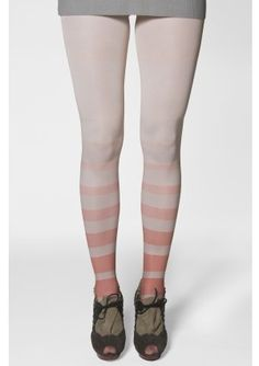 KRON by KRONKRON pink and white tights
