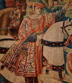 """Tapisserie """"Départ pour la Chasse"""" (détail) - Flandre, XVe siècle - Musée de Cluny, Paris - photo Marie J"""