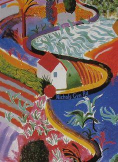 David Hockney Art Print Contemporary Landscape  by AngelGrace, $7.99