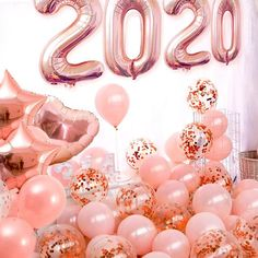HAPPY NEW YEAR . For see more of fitness life images visit us on our website ! Rose Gold Letter Balloons, Black Balloons, Mylar Balloons, Confetti Balloons, Latex Balloons, New Year Pictures, Happy New Year Images, Happy New Year 2020, Gold Party Decorations