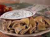 Cucumber Yogurt Dip with Pita Chips Recipe from Food Network
