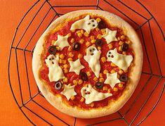チーズおばけのクリスピーピザ | レシピ一覧 | Panasonic Cooking | Panasonic Pepperoni, Vegetable Pizza, Vegetables, Cooking, Recipes, Halloween, Food, Kitchen, Essen