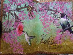 Birds art journal page