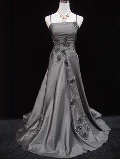 Cherlone Plus Size Satin Grey Ball Gown Bridesmaid Wedding/Evening Dress 20-22 #Cherlone #Ballgown #Formal