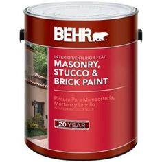 BEHR 1-Gal. Deep Base Flat Masonry, Stucco and Brick Interior/Exterior Paint-27201 at The Home Depot