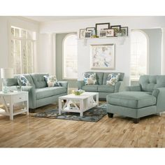Kylee Lagoon Chaise by Signature Design by Ashley Furniture