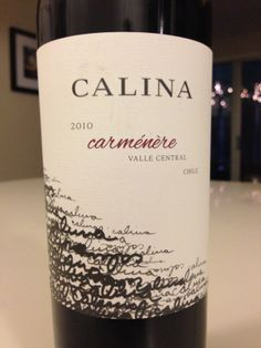 Calina wine packaging. Nice use of typography as a main visual element.