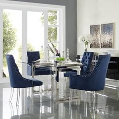 Tufted Dining Chairs, Modern Dining Chairs, Dining Chair Set, Dining Room Furniture, Home Furniture, Rattan Chairs, Lounge Chairs, Side Chairs, Dinner Chairs