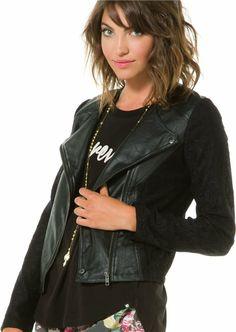 Reese crinkle pu lace jacket. http://www.swell.com/New-Arrivals-Womens/JACK-BY-BB-DAKOTA-REESE-CRINKLE-PU-LACE-JACKET?cs=BL&utm_source=Pinterest&utm_medium=Social+Media&utm_campaign=Kristin+Pins