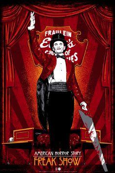 """American Horror Story - Freak Show - Vance Kelly - ''Chester'' ---- """"American Horror Story"""" art show at Hero Complex Gallery (2015-10) #AHS"""