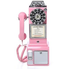 1950's Classic Pay Phone ($82) ❤ liked on Polyvore featuring accessories and tech accessories