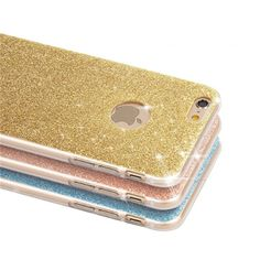 Luxury Diamond Flash Glitter Bling Silicone Cover For Apple Iphone 5 5s Se 6 6s Plus Case Crystal Soft Cases