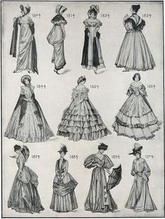 Nähen Classic style from the chart digital obtain 6 Steps to Tremendous Modern Fashionable Hai 1800s Fashion, 19th Century Fashion, Victorian Fashion, Vintage Fashion, Historical Costume, Historical Clothing, Evolution Of Fashion, Techniques Couture, Old Dresses