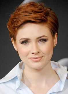 Image result for copper gold pixie cut