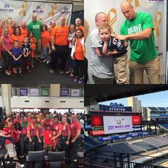 Amazing day here at @gillettestadium last month with Gronk! Doing #whateverittakes for kids with cancer, like shaving over 1,000 heads! #buzzforkids