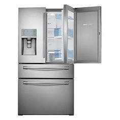 Samsung 4-Door French Door Food ShowCase Refrigerator (Stainless Steel) RF28HDEDBSR | Refrigerators