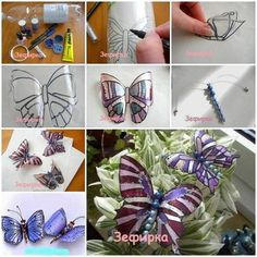Recycle plastic bottles into butterflies. Very good idea.