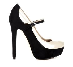 Gorgeous Black and White Platform Mary Janes #heels #love #black_and_white #mary_janes
