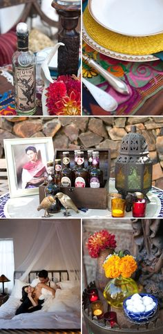 Palm Springs Wedding Inspired by Frida Kahlo by Isabel Lawrence Photography | Style Me Pretty